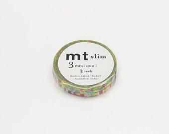 mt slim masking tape - 3mm set of 3 - pop