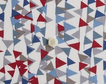 liberty of london -special limited print - robin - red, blue, grey, teal green,white and olive