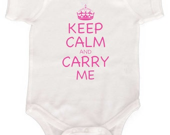 Funny Baby Girl Bodysuit Keep Calm Modern Girl Rompers Newborn Creepers to GIrly Tees