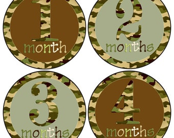 Baby Boy Months Stickers Boy Camo Month Baby stickers Hunting Baby Milestones Great Newborn Photo Prop