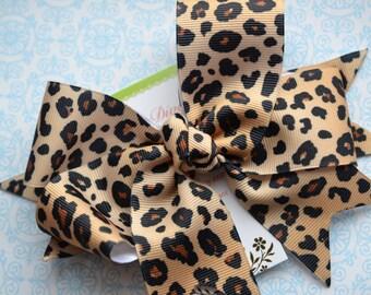 Leopard Print XL Diva Bow
