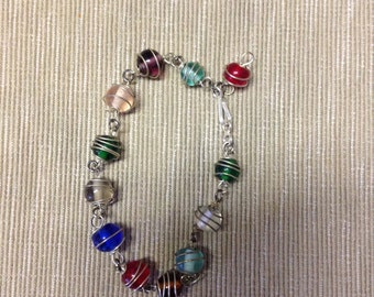 Wrapped Bead Bracelet