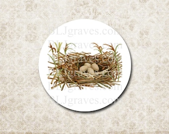 Stickers Bird Nest Eggs Envelope Seals Wedding Party Favor Treat Bag Stickers SP076