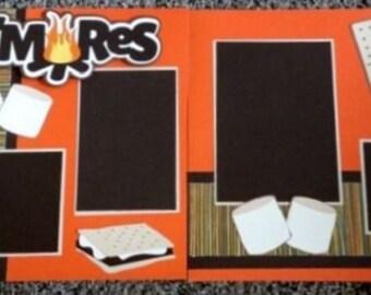 Smores (2) Page 12x12 Scrapbook Layout kit