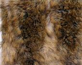 PLUSH FUR FABRIC Under a Yard: Red Fox Fur Canadian Fox Fur Plush Fur Exotic Fur Arts Crafts Supplies Quality Remnants Animal Friendly