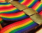 Rainbow Adjustable Nylon Belts
