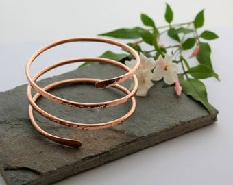Triple wrap Copper Armlet, Arm bracelet, Cuff