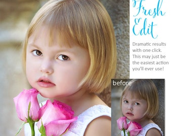 Photoshop Action | Pure Palette - Fresh Edit - Photography Editing Made Easy With This One (atn) Action to Install on Your Computer.