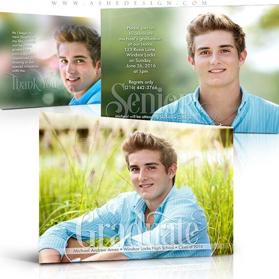 free senior templates for photoshop - photoshop templates senior announcement graduation