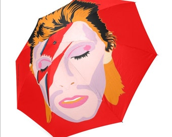 DAVID BOWIE umbrella ... original illustration