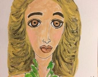 Melrose, original mixed media painting