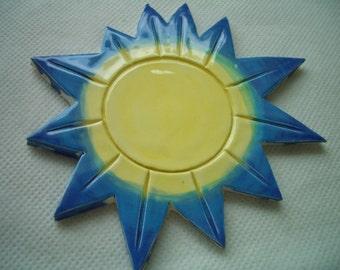 MYO - Beautiful Bllue, YELLOW SUNS-  Ceramic Mosaic Tiles Set