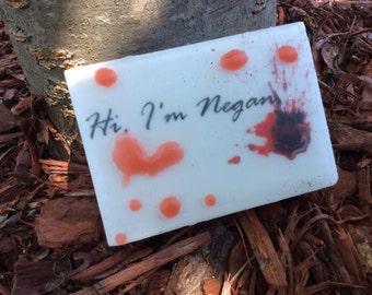 Walking Dead Soap - Hi I'm Negan - Negan Quotes - AN AJSweetSoap Exclusive - Walking Dead Party Favor - Novelty Soap