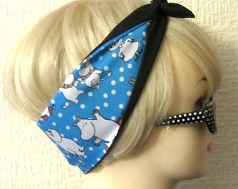 Moomin Hair Tie Fabric Head Scarf by Dolly Cool Moomintroll Little My Polka Dot Kawaii Harajuku Japan