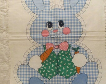 Vintage Rabbit Cut and Sew Panel