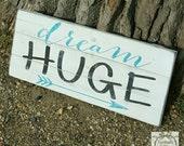 Handpainted Dream Huge Pallet Sign