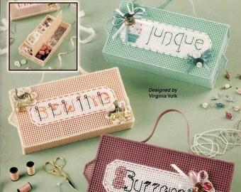 Trinket Box Treasures ~ Plastic Canvas Pattern Booklet ~ Annie's Attic ~ 6 patterns