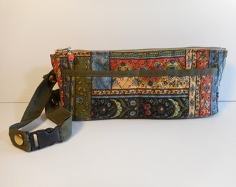 Fanny Pack/Hip Bag/Cross-body Bag Quilted Floral Zipper Pockets Adjustable Strap