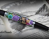 Beautiful One of a kind crafted Elegant Sierra pen with a stylus.