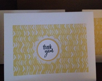 Set of 10 thank you cards 5 1/2 x4 1/4 with envelopes
