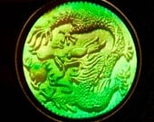 Awesome 1960s Hologram Pendant DRAGON Design