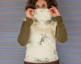 Stella Banded Hemp Cowl Shell - Hemp and Organic Cotton Fleece or French Terry - Eco Fashion - Made to Order Choose Your Color