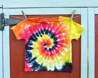 4T Baby Tie Dye T-Shirt - Dragon Swirl - Ready to Ship