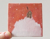 tiny cabin  / original painting on canvas