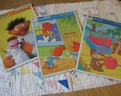 Three Vintage Cardboard Frame Tray Whitman Puzzles Chip N Dale Ernie and Woody Woodpecker