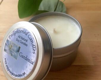 Gardenia 4oz Soy Candle Tin