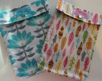 Ouch Pouch Sale 2 for 16.00 Medium 5x7 Clear First Aid Organizer for Diaper Bag Car Purse Backpack Travel - Your Choice Fabrics