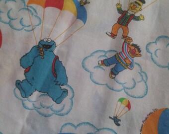 Vintage Parachute SESAME STREET Flat Sheet Twin Sheet
