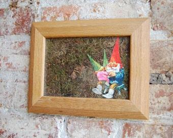 Vintage Gnome Moss Wall Art, Grandpa Gnome with Grandkids