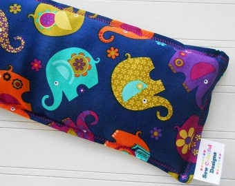 Microwavable Heating Pad and Ice Packs, Keepin' Cozy Willy Pad; Warm Compress and Cold Compress, 4 Sizes - Elephant Romp