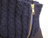 Sale - Dark Blue Zippered Cowl