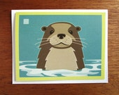 Otter Note Card