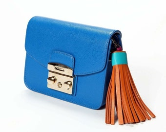 Leather tassel Keychain Bag charm Christmas Gift