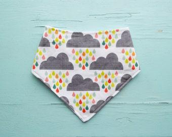 Rainbow clouds baby bandana bib