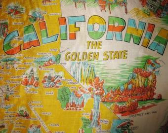 Vintage California Tourist Scarf