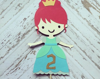 Princess Cake Topper- Smash Cake, First Birthday, Princess Party