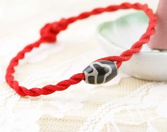 Bodhi Dzi bead amulet bracelet