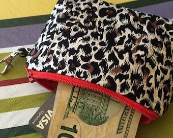 Cheetah, animal print, cheetah print,  Zippered Pouch, Coin Purse