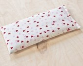 Pink Hearts Lavender Eye Pillow, Valentines Day Spa Gift for Women
