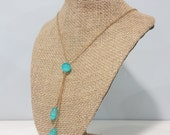 Turquoise Asymmetrical Drops Necklace