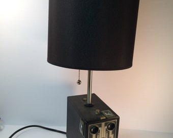 Vintage Brownie Target Six-16 Camera Lamp for Table, desk Steampunk  Industrial