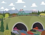 We're Going Biking - Overpass
