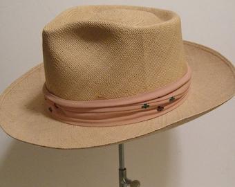 6 7/8 - Vintage Ecuadorian Panama Men's Hat - A