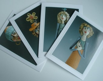 Greeting Cards, Women Greeting Cards, HANDMADE CARDS, Photo Cards, Cards, Set of 4 Greeting Cards, Card Pack