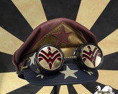 SALE! Vintage Wonder Woman Inspired Crush Cap & Goggles