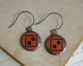 Button Earrings Soldered Halloween Autumn Jewelry